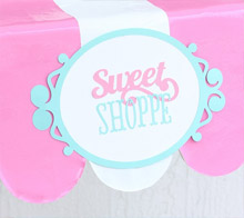 Pretend sweet shoppe sign